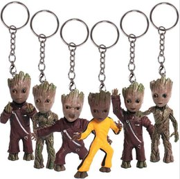 Galaxy Keychain Canada - Movie Guardians of Galaxy Groot Keychain Anime Action Figure PVC New Collection figures toys Collection