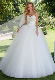 Robe De Mariée Sweetheart Simple Sans Bretelles Pas Cher-Hot Selling 2016 Nouveau Oksana Mukha Sexy Sweetheart bretelles Robes de mariée Perles Crystal Sequins Tulle robe de mariée Robes de mariée Lace Up