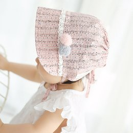 nordic cotton Canada - Infant Chapeau Nordic Vintage Lace Toddler Bonnet Christening Baptism Cap Baby Girls Cotton Bonnet Retro Beanie Hat