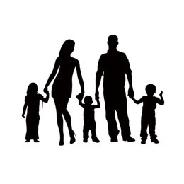 Car deCal family online shopping - Hot Sale For Stick Figure Family Car Styling Decals Car Window Funny Stickers Vinyl Truck Jdm Accessories Graphics