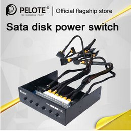 $enCountryForm.capitalKeyWord Canada - Wholesale- PELOTE HD-PW6101 Hard Drive selector sata drive switcher HDD Power Switch Control For Desktop PC computer CD-ROM Slot Space