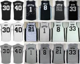 2017 Basketball 8 Patty Mills Jersey Printed 33 Boris Diaw 1 Kyle Anderson  40 Boban Marjanovic Adidas NBA San Antonio Spurs 8 Patrick ... 2c9d3b06e