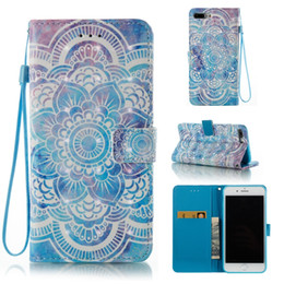 2018 flower leather flip phone case BB030005 3D Mandala Emboss Premium Flower PU Leather Wallet Case With Wrist Strap Flip Cover for iPhone Samsung Galaxy Phone Case flower leather flip phone case on sale