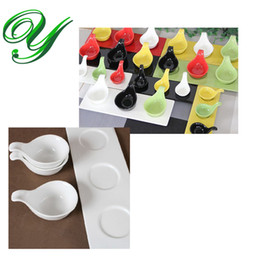 melamine bowls wholesale Canada - appetiser plate set plastic dinner plates wedding dessert cake plates Melamine Sauce salad ice cream Bowls with Handle sushi serving tray