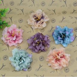 Garland Flowers Fake Canada - 30pcs 8.5cm Real Touch Large Silk Rose Artificial Flower Head For Wedding Decoration DIY Garland Decorative Peony Fake Flowers
