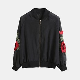 China Hot Sale Women Rose Flower Embroidered Thin Jackets 2018 Summer Femme Long Sleeve Sunscreen Thin Coat Ladies Casual Tops supplier embroidered jackets ladies suppliers