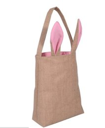 $enCountryForm.capitalKeyWord UK - 2017 Easter Bunny  Rabbit Bag Bunny Ears Easter Spring Treat Egg Bags Dual Layer Jute Party Favor children's Gifts Bags12 colors