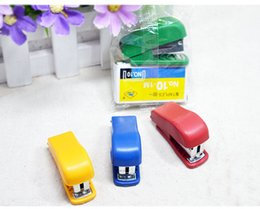 mini stationery sets Australia - Mini Style Cheap Stapler Staple Set with No. 10 Staples Stationery Candy Stapler Grampeador Office School Supplies