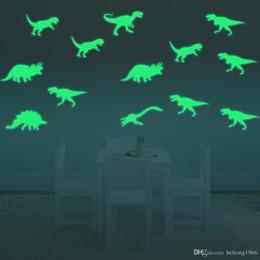 Large dinosaur waLL stickers online shopping - Wall Sticker Luminous D Creative Dinosaur Art Mural Fluorescence Light Decal For Kid Room Water Proof gf F R