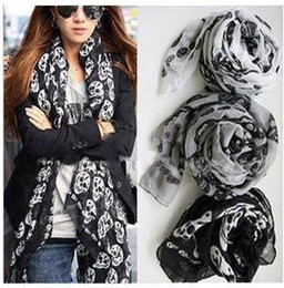 Discount skulls accessories Brand-New Fashion Accessories skull Scarves Muffler spring Autumn shawl scarf for women