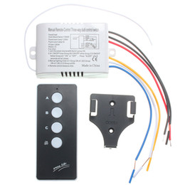 Light Switches For Lamps NZ - Wholesale-220V 3 Way Port ON OFF Digital Smart Home Remote Control Switch Wireless For Light Lamp