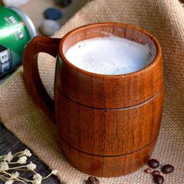 $enCountryForm.capitalKeyWord Canada - 360ml Handcraft Wooden Beer Mugs with Handle Medium Size Wood Tea Cup Coffee Mugs Home Bar Drinkware Wooden Utensil Gifts