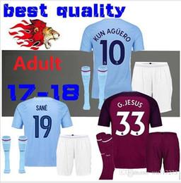 728367f74 ... Soccer 17 18 Men City home Rugby Jerseys Kits 2017 2018 DZEKO KUN  AGUERO KOMPANY TOURE YAYA Top Thai quality ...