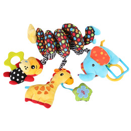 12 Months Toys Canada - Wholesale- 2016 new infant Toys Baby crib revolves around the bed stroller playing toy car lathe hanging baby rattles Mobile 0-12 months