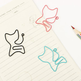 Metal paper case online shopping - Bulk package Cat Shape Metal Bookmark Clip Memo Clip Paper Clip Bookmark DIY Novelty Office Learn Stationery