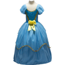 Chinese  Fashion Flower Girls Dress Beads Asia Snow Tiered tulle Wedding Pageant 2017 Summer Princess Party Dresses Clothes flower girl's prom dress manufacturers