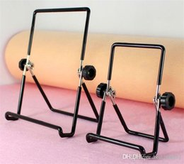 Adjustable Metal Stand For Tablet Australia - Iron Metal Adjustable Folding Holder Stand For A13 Q88 Android tablet PC smart phone Hotsale free shipping