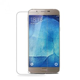 Galaxy S5 Front Glass UK - For Samsung Galaxy S4 S5 S6 A5 A7 A8 A9 Tempered Glass Screen Protector Film HD Explosion Proof 9H 2.5D Anti Crash
