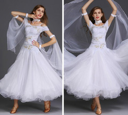 Performance De La Danse Pas Cher-New Hot Sale Robes pour Ballroom Dancing Standard 9 couleurs Jupes de salle de bal Sex Stage Costume Performance Womens Ballroom Dance Wear Dress