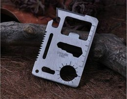 Tool Wallets NZ - Multipurpose Swiss Army Knife Tool Set Hiking Hunting Travel Camping Field Survival Pocket Wallet Knife Card EDC Outdoor Hand Tools
