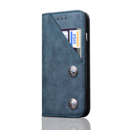 Flip Inside Wallet Australia - Phone Cover for iPhone X 8 Retro PU Leather Case Inside TPU Magnetic Flip case Mobile Phone back case With Card Holder