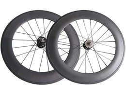 $enCountryForm.capitalKeyWord Canada - 700C track bike Front Rear wheels fixed gear 88mm Clincher   Tubular carbon flip flop single speed bicycle wheelset