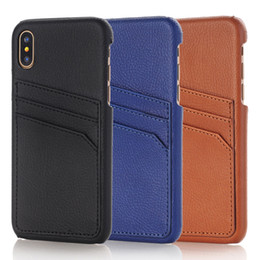 Wholesale Luxury cell phone cases for iphone X S plus mobile phone retro leather TPU hard back case wallet cover with credit card slots holder
