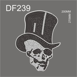 $enCountryForm.capitalKeyWord NZ - DF239# Hot Fix rhinestone Skull black style for garment ship from china factory