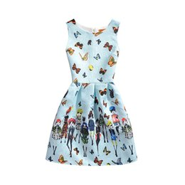 Outfit Mother Child Canada - Baby Kids children Clothing 2019 Family Matching Outfits family butterfly print mother and daughter matching dresses girls dress clothes #98