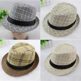 25242115e4640 Spring summer Men Women Straw Hats Soft Fedora Panama Hats Outdoor Stingy  Brim Caps Unisex Fashion Street Top Hats Jazz Cap GH-61