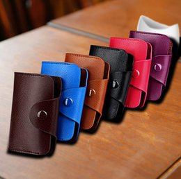 card holder wholesale NZ - New Genuine Leather Women Men ID Card Holder Wallet Purse Credit Card Business Card Holder Protector Organizer
