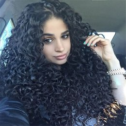 $enCountryForm.capitalKeyWord Canada - 150 Density Afro Kinky Curly Full Lace Wigs Brazilian Virgin Hair Glueless Human Hair Lace Front Kinky Curly Wig For Black Women