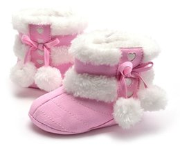 Infants Walkers NZ - 2017 Winter Baby Girls Boys Shoes Boots Moccasins Soft Crib Infant Warm Fleece First Walkers Newborn Toddler Shoes