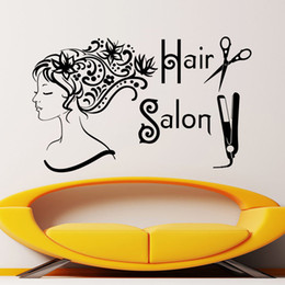 Hair Salon Wall Decor discount salon wall decor | 2017 hair salon vinyl wall decor on