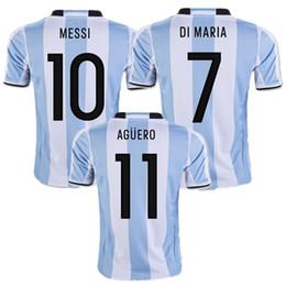 wholesale 2017 argentina soccer jerseys messi di maria kun aguero mascherano perez gago argentina jerseys home