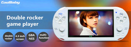 arcade video games consoles 2019 - 2017 fashion 4GB 4.3 Inch PMP Handheld Game Player double rocker MP4 MP5 Player Video FM Camera Portable Game Console ch