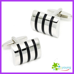 $enCountryForm.capitalKeyWord Australia - Classic Square Enamel Cufflinks Male Business Shirt Cuff Link Sleeve Nails Silver Buttons Wedding Dress Party Exquisite Christmas Gift