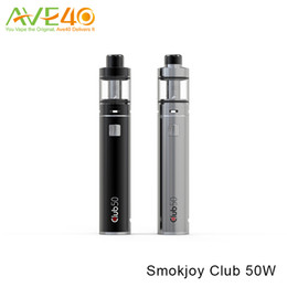 Discount micros electronics - Authentic Smokjoy Club 50 Micro Kit 1600mAh 50W Battery and 3ml Air Tank 22 Electronic Cigarette e cigs Kits