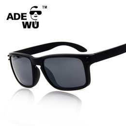 Discount ok brand - Wholesale-Adewu Outdoor Fashion Brand Designer Men Women Sunglasses Mirror UV 400 Sun Glasses Male Quality is OK oculos