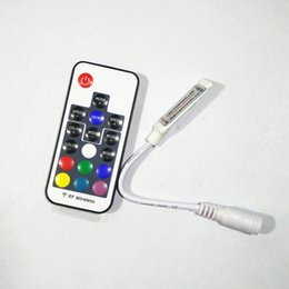 Plug striPs online shopping - RF Remote Controller DC12V V Key Mini Controller LED Remote Control Led Strip colorful RGB plug in Connection