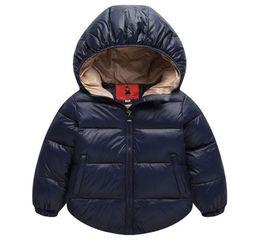 2017 Winter Boys prendas de abrigo sólido Cotton Girl Coat bebé recién  nacido Snowsuit infantil abrigo e20c5d95957