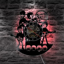 Led Lamps 1piece Rock N Roll Music Band Sign Musical Instrument Home Decor Led Hanging Lamp Guitar Led Wall Lamp Vinyl Record Wall Clock Cheapest Price From Our Site
