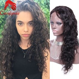 Discount big virgin black lady Loose Curl Peruvian Virgin Human Hair Full Lace Wig With Baby Hair For Black Women Glueless Lace Front Wig Top Quality F