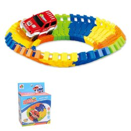 28pcs miraculous electronic racing car track kids toy childrens game boys xmas gift rail building block toy