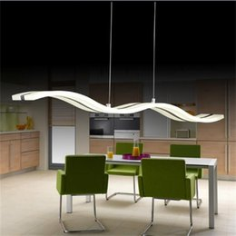 LED Pendant Lights Lamps Living Room Modern Simple Newest Wave Design 38W Excellent Acrylic Indoor Home Lighting