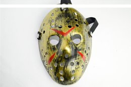 Black Jason Mask Canada - 6 color gold white black green yellow silver Freddy Vs Jason Original Soundtrack Jason laidi war Full Face Horrible mask
