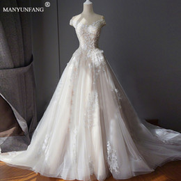 wedding dresses for muslim women NZ - Plus Size Hot Selling Pretty Sexy Maternity Wedding Dresses For Women Bride Exquisite Lace-up Floor-length Crystal Cap Sleeve Empire Dresses