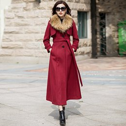Chanclas Para Niñas Baratos-Las mujeres de lana Trench Coat Lady Slim X-Long abrigos femeninos más el tamaño Outwear Girls Maxi Blends Coat 2018 Spring Women Clothing W279