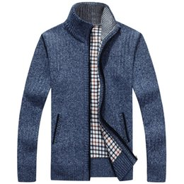 China New Christmas Sweater Men Winter Pullover Snowflake Pattern Sweater Men's Casual Cardigan Thickening Wool Jacket SY119 cheap jacket puff suppliers