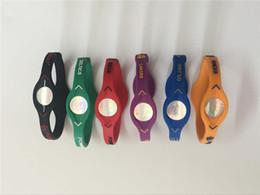 Silicone Ion Sports UK - High quality fashion jewelry charm bracelet silicone power wristband for Lakers basketball sport balance lanyard hologram ion energy bangle